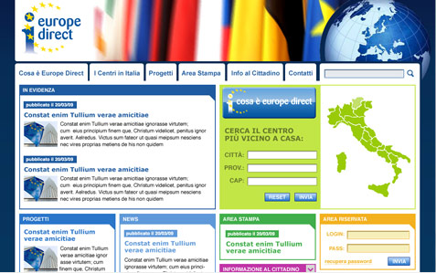 layout sito europe direct